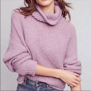 Anthropologie Moth Abella turtleneck boxy sweater